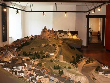 Exhibition of model buildings of Luxembourg castles Clervaux